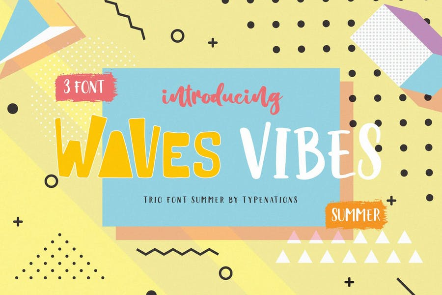 3 Waves Vibe Fonts