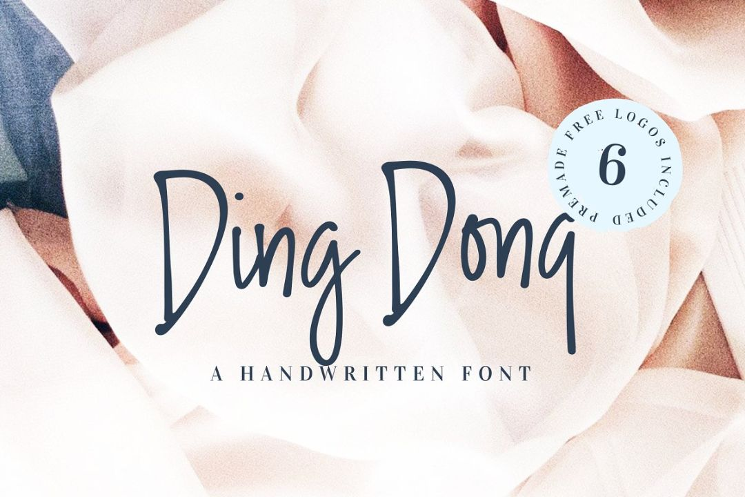 6 Handwritten Fonts Bundle