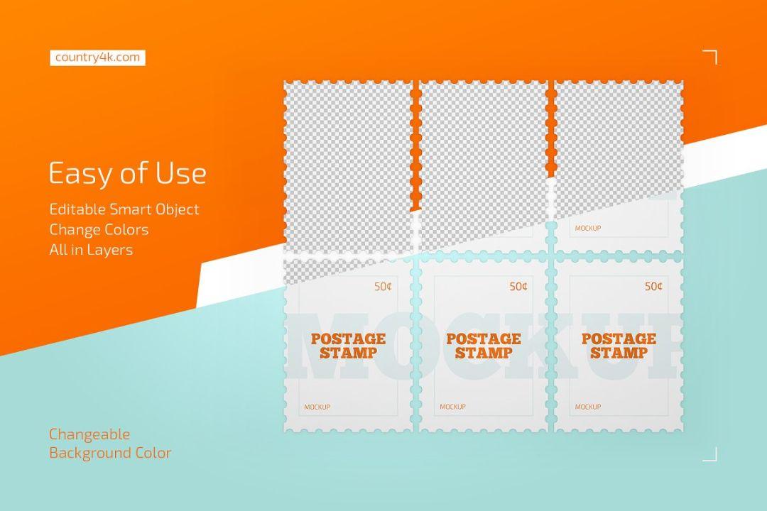 Amazing Postage Stamp Mockup
