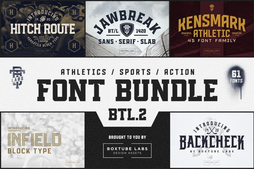 Athletic and Sports Font Bundle