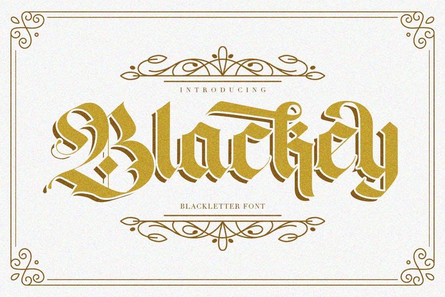 B;ack Letter Gothic Font