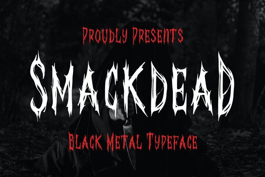 Black Metal Typeface Font
