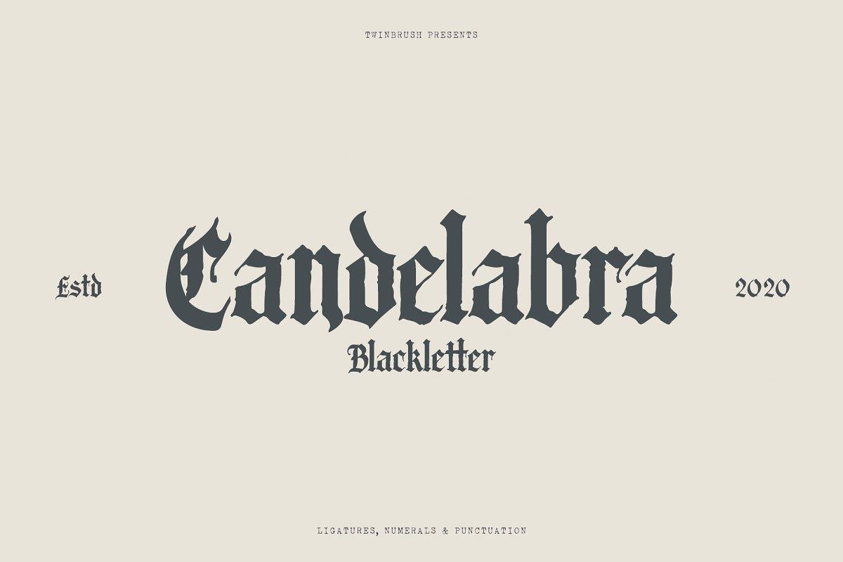 Blackletter Calligraphy Fonts