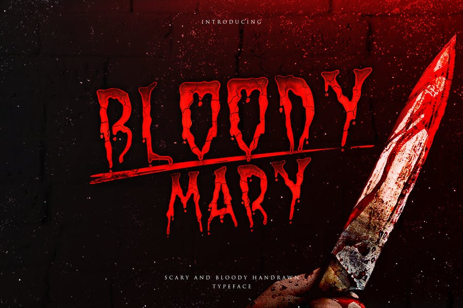 Bloody Mary Dripping Font
