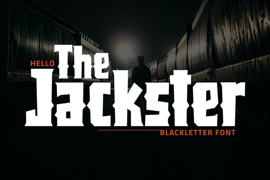 Bold Blackletter Font for Heavy Metal