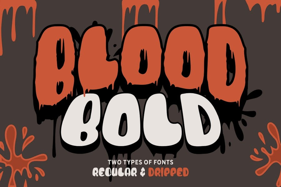Bold Blood Dripping Font