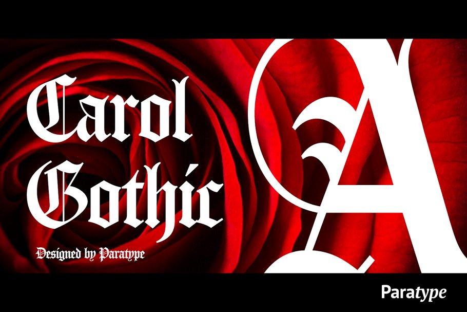 Carol Gothic Fonts