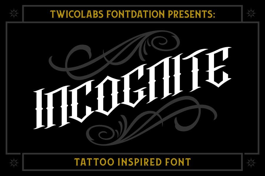 Classic Tattoo Fonts