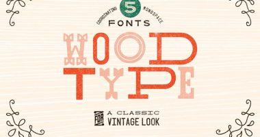 wood fonts