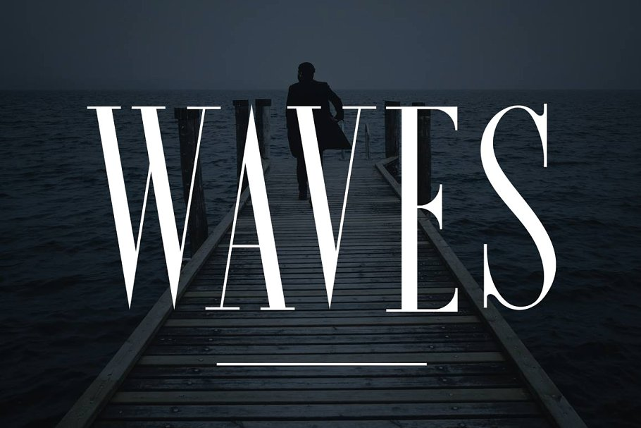 Clean Condensed Wave Fonts