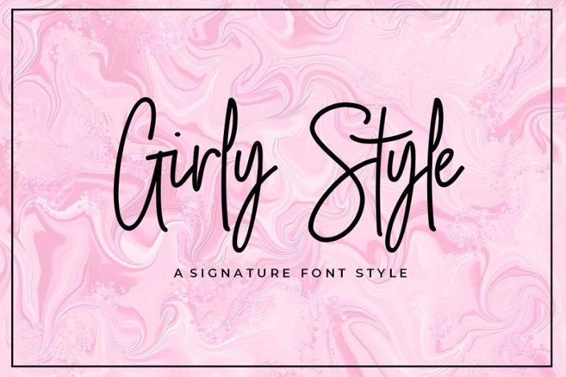 Clean Girly Signature Fonts