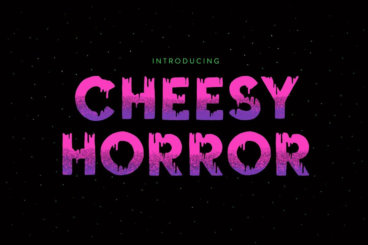 Creepy Halloween Dripping Font