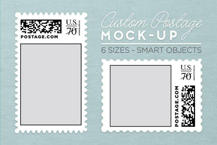 Custom Postage Stamp Mockup