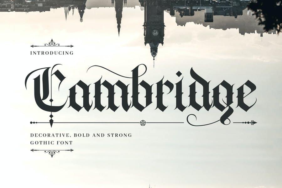 Decorative Cambridge Fonts