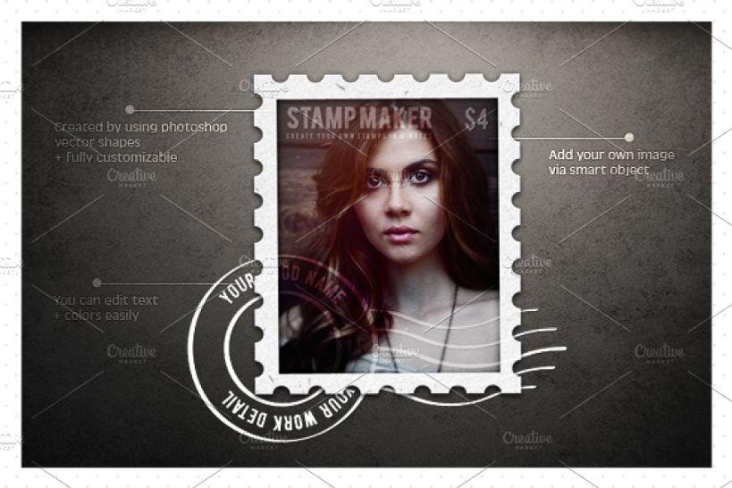 Easy Stamp Maker Mockup PSD