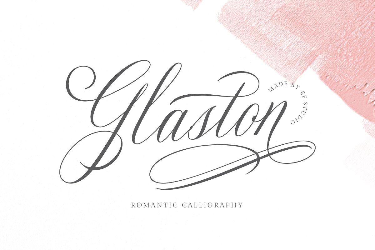 Feminine Romantic Fonts with Swashes