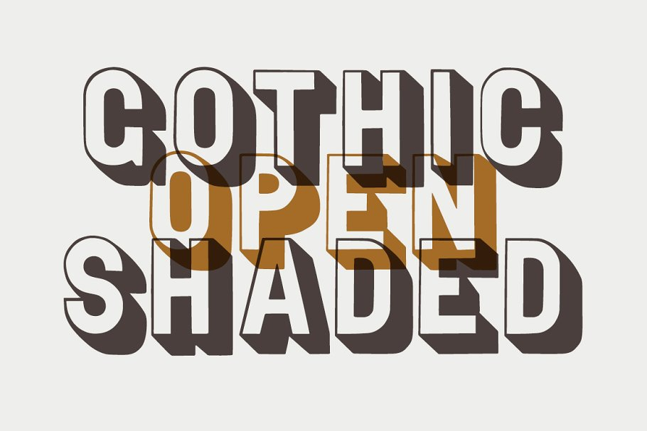 Gothic Open Shaded Fonts