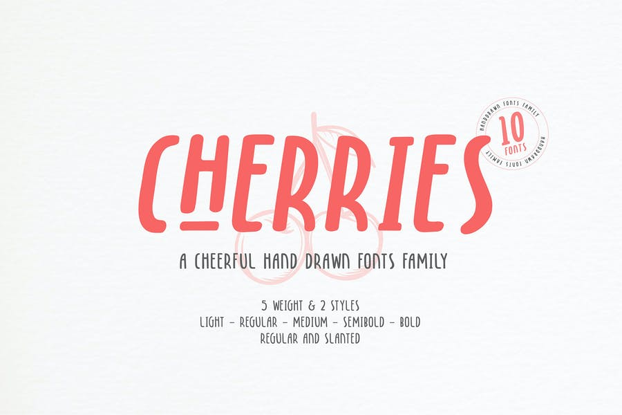 Hand Drawn Cheerful Font