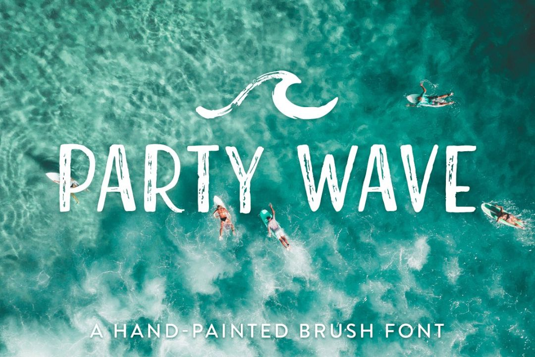 Hand Painted Brush Font