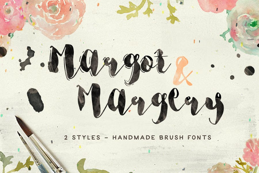 Handmade Girly Brush Fonts
