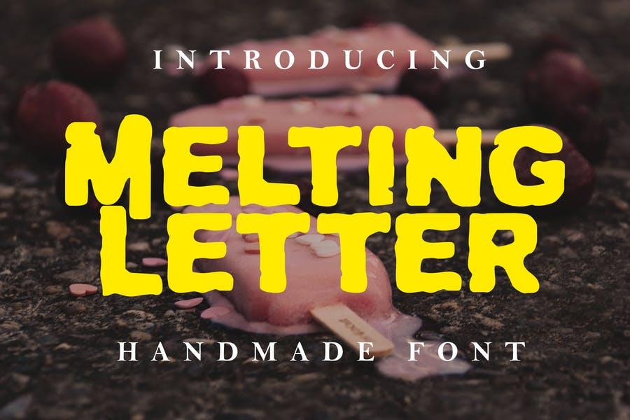Handmade Melting Fonts
