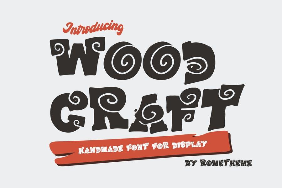 Handmade Wooden Display Fonts