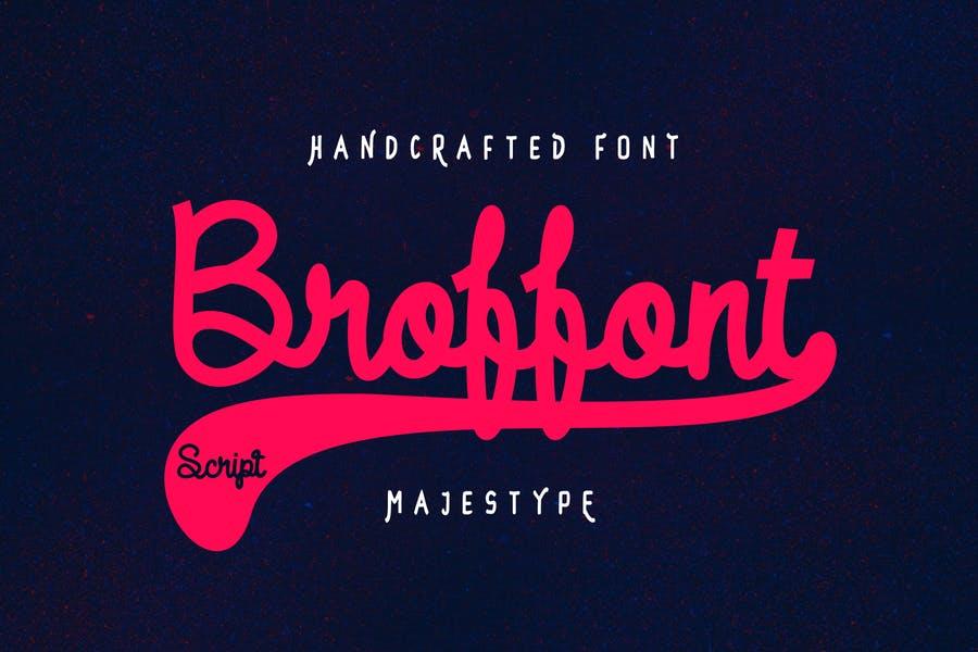 Handwriiten Baseball Fonts for Branding