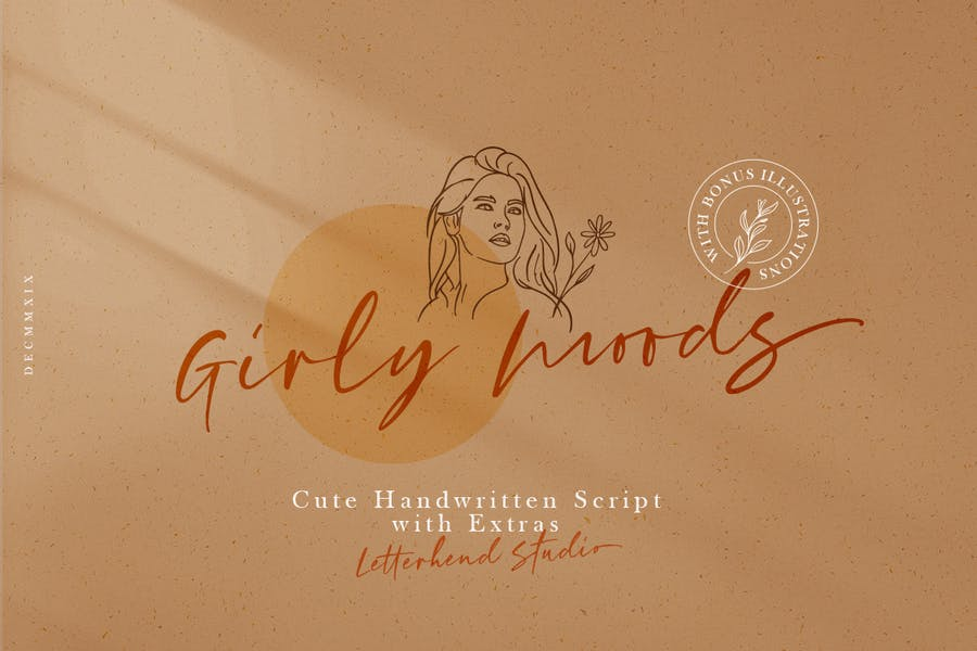 Handwritten Girly Moods Font