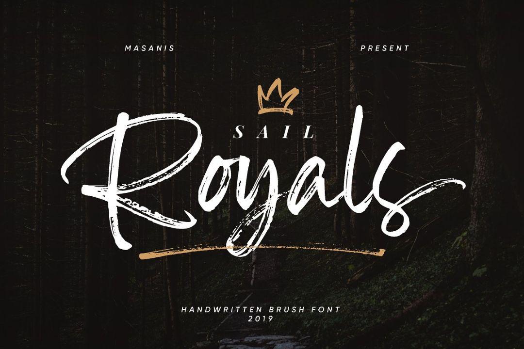 Handwritten Royal Brush Fonts