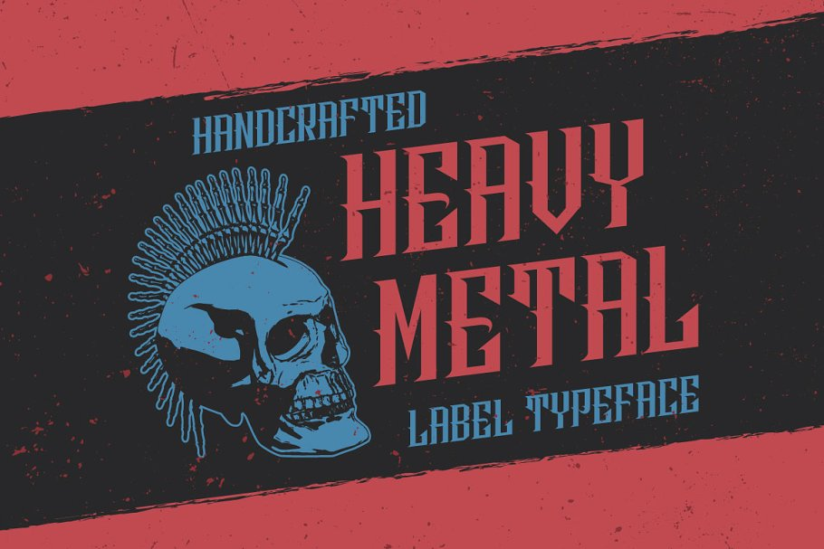 Heavy Metal Music Label Font