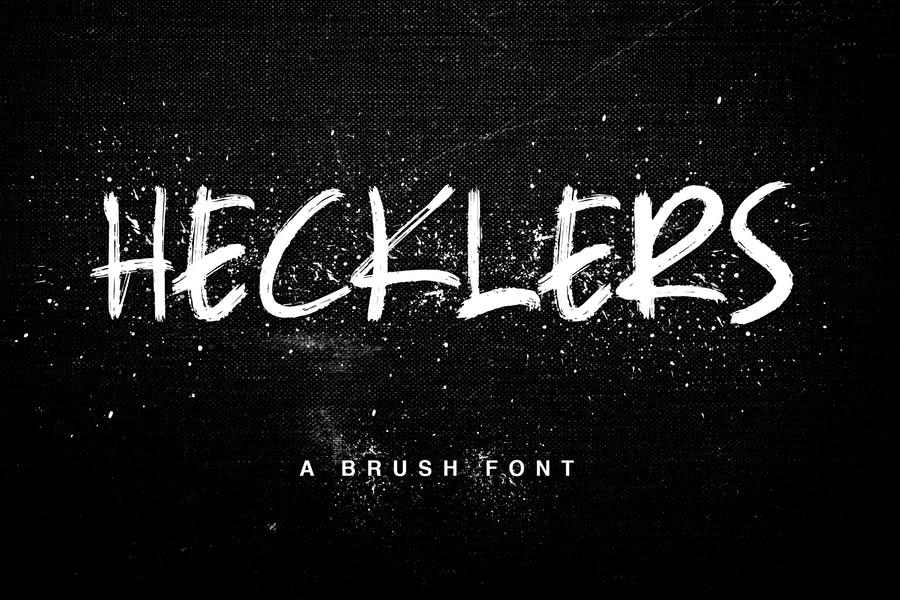 Hecklers Brush Fonst TTF