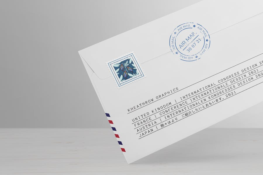 High Resolution Postal Stamp Mockup