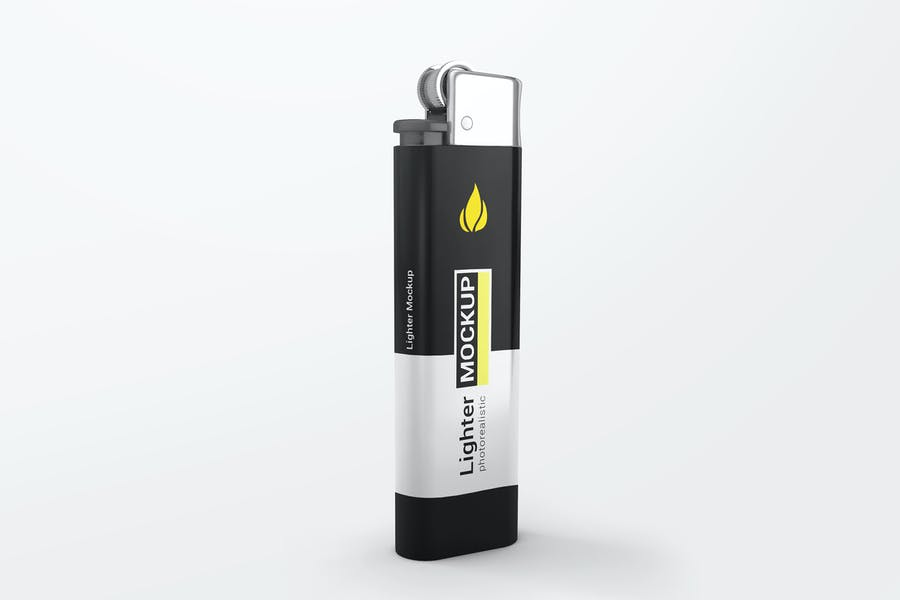 Isolated Lighter Mockup PSD