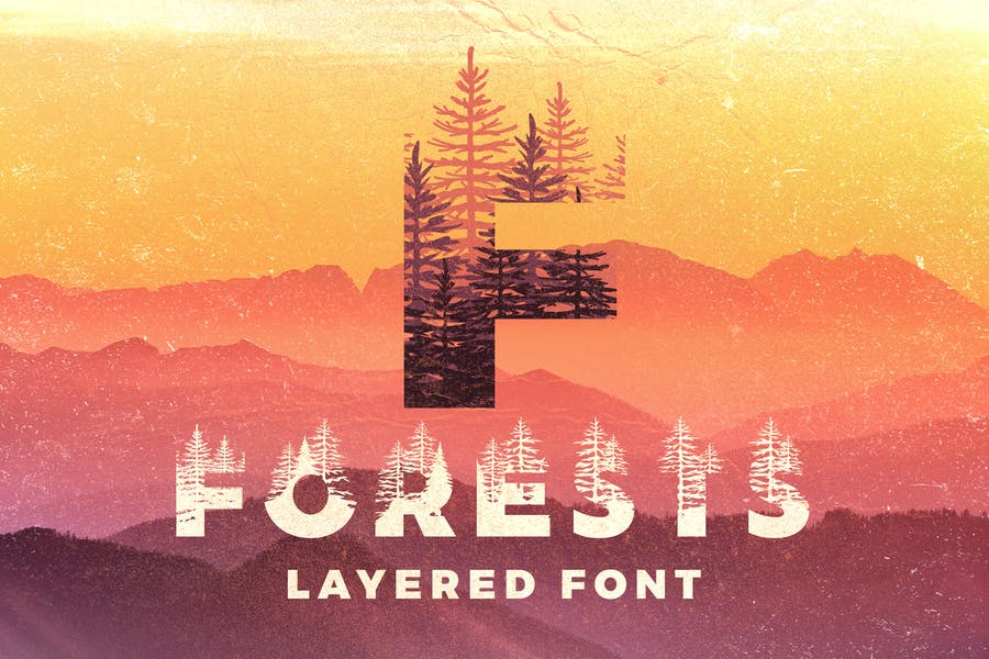 Layered Wooden Font Download