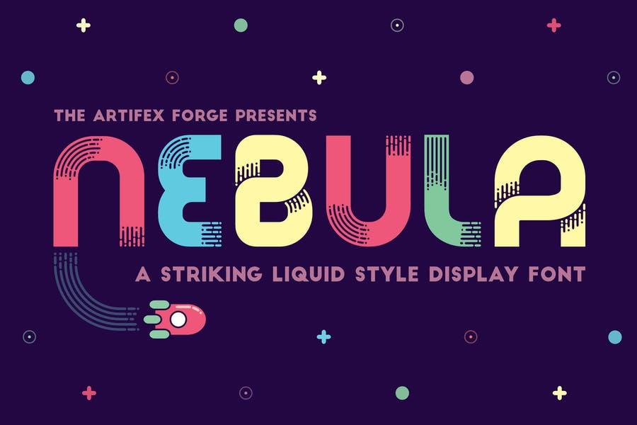 Liquid Style Display Font