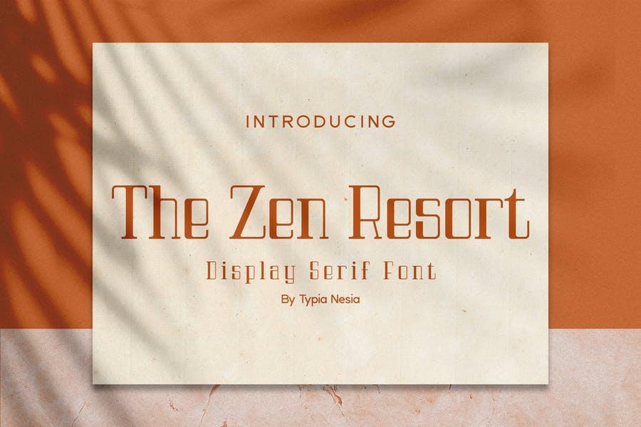 Luxury Font for Resort Branding