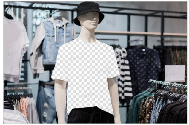 Male White T Shirt Mannequin Mockup
