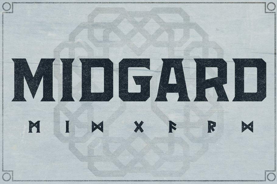 Medieval Viking Font for Branding