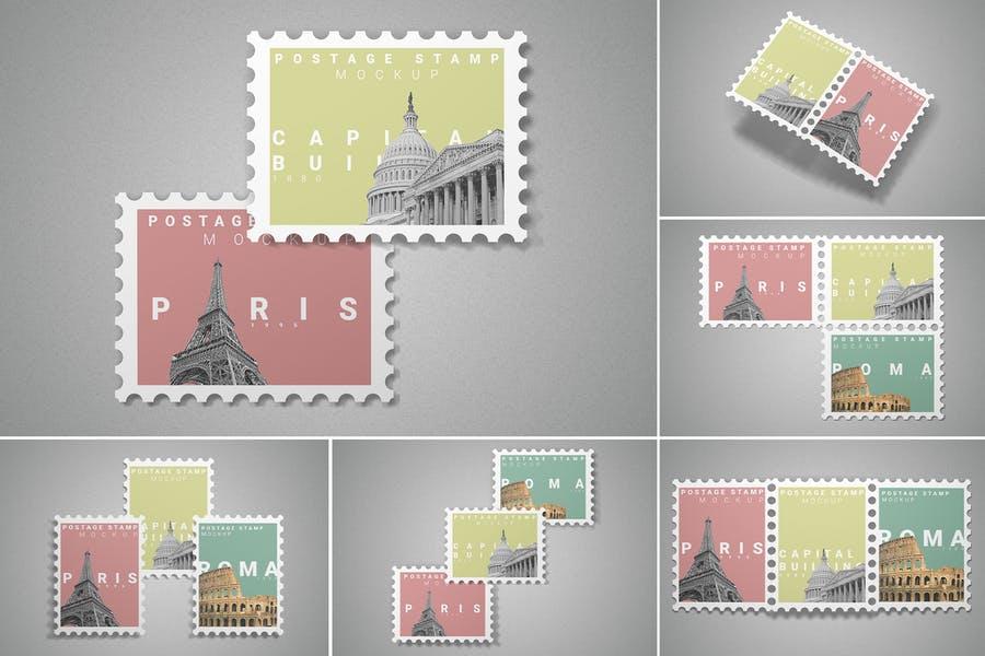 Minimalist Stamp Mockup PSD