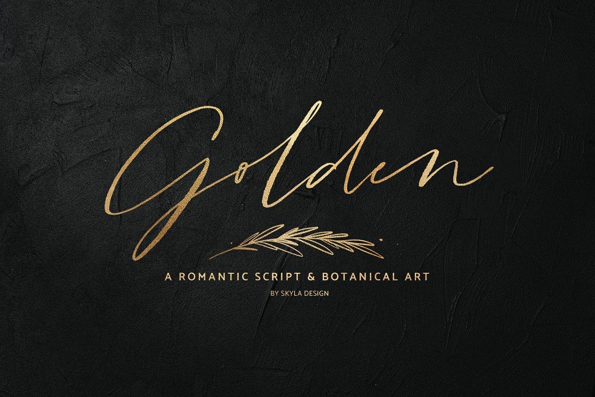 Modern Golden Script Font