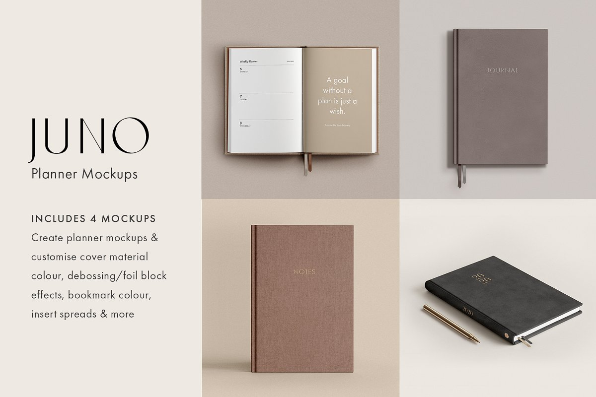 Planner Mockup PSD Collection