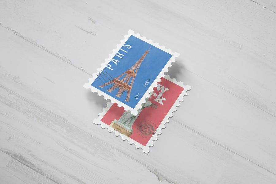 Postage Stamp Mockup PSD
