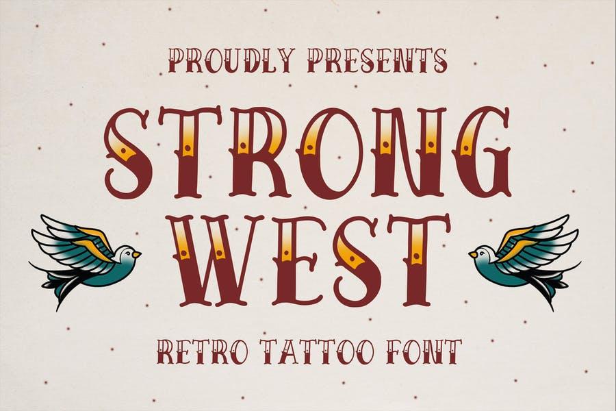 Retro Tattoo Fonts