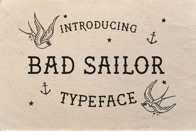 Sailor Style Fonts