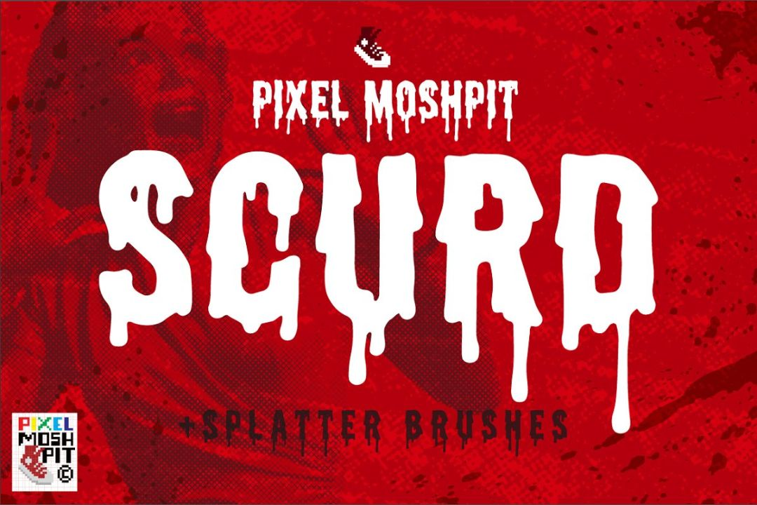 Scary Halloween Dripping Fonts