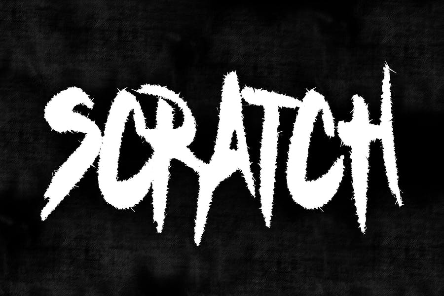 Scratch Heavy Metal Font