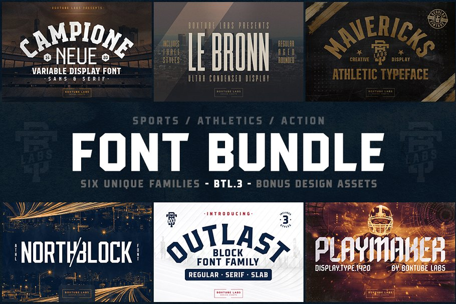 Six Unique Fonts Bundle