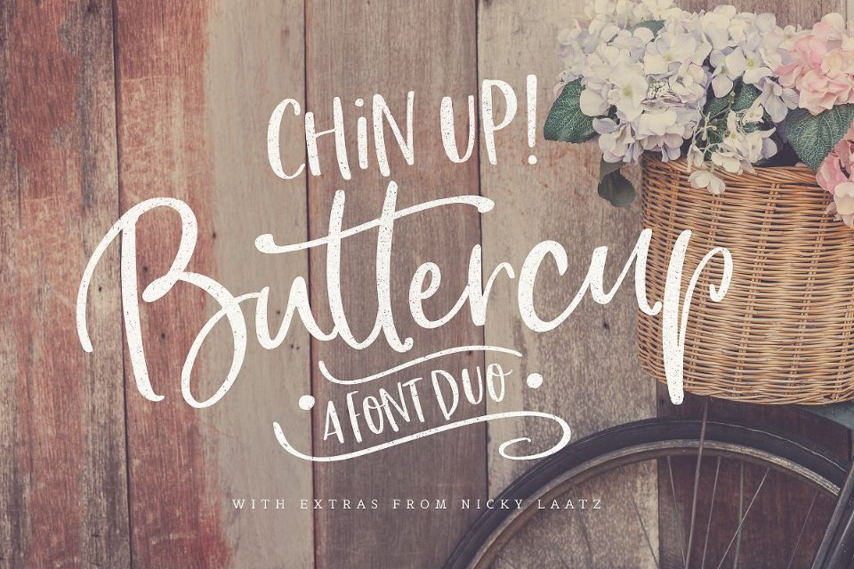 Swirly Buttercup Fonts