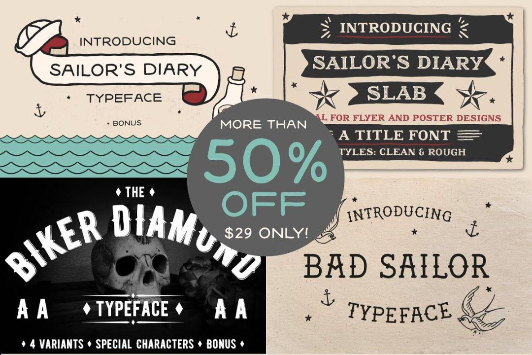 Tattoo Fonts Bundle