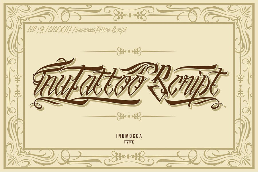 Tattoo Lettering Swril Fonts